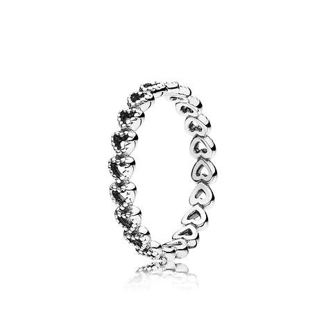 50 / Openwork heart silver ring