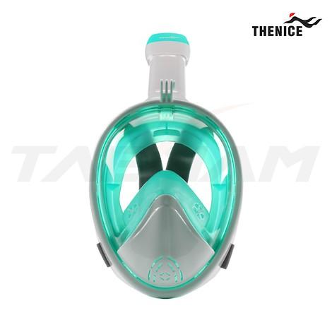 [TheNice] 스노클링 풀페이스 마스크 Premium WhiteGreen S-M